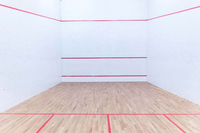 Over 40 squash courts for hire